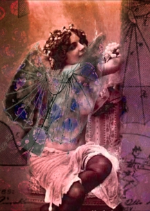 11 Butterflying machine girl card